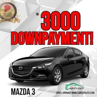 Mazda 3. $3,000 Downpayment ONLY!! Limited Units! Used Car.