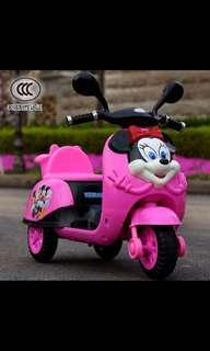 Minnie Mouse Ride On Kids Bike Battery Operated