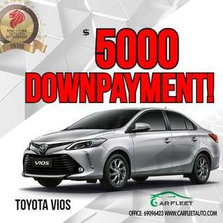 Toyota Vios. $3,000 Downpayment ONLY!! Limited Units! Used Car.