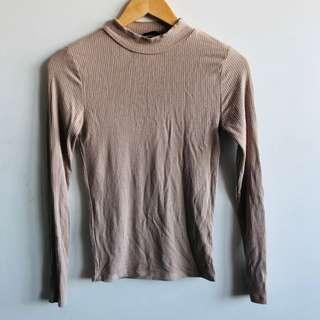 Nude long sleeve top