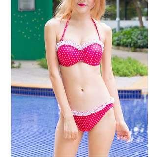 SALE - Celeste - Polka Ruffle Bikini (Red) (LAST INSTOCK)