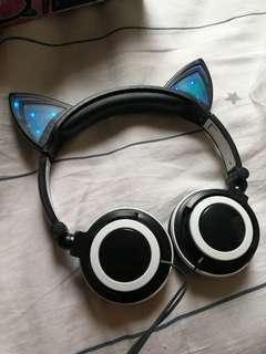 日本 Nekomimi 貓耳機 貓耳朵