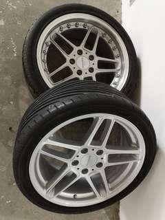 18 inch sport rim with low profile tyre