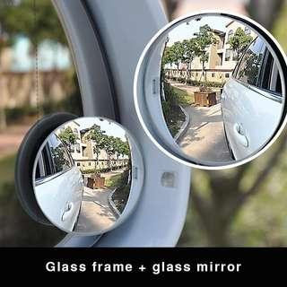 2 PCs Car Styling 360 Degree Framless Blind Spot Mirror Wide Angle Round HD Glass Convex Rear View Mirrors #726