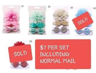$7 per set Baby Headbands