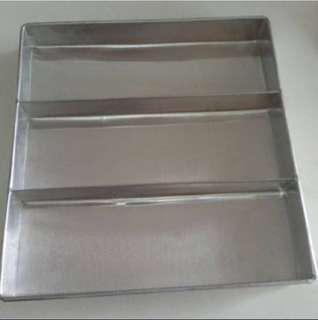 New Aluminium baking tray kueh lapis jelly brownies tray layer cake