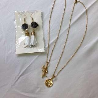 Gold Angel Necklace Set