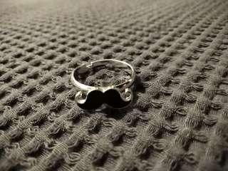 Moustache Pinky Ring