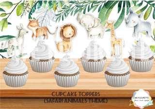 Safari Animal Theme Cupcake Toppers