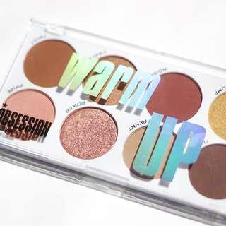 Warm Up Eyeshadow Palette | Obsession Makeup by Revolution Beauty UK Drugstore Cosmetics
