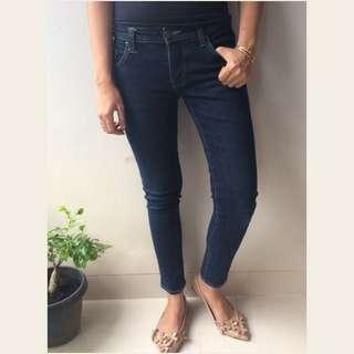 POINT ONE Dark Blue skinny jeans celana denim biru tua wanita murah