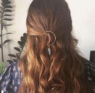 Crescent moon Hair clip