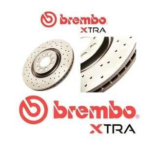 Honda Stream RN6 Sport Drilled Front Rotors - Brembo XTRA