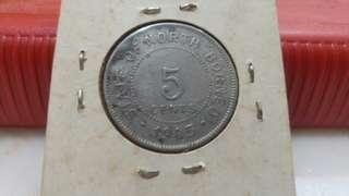 1903 state of north borneo 5 cents