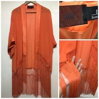 H&M tassel kimono