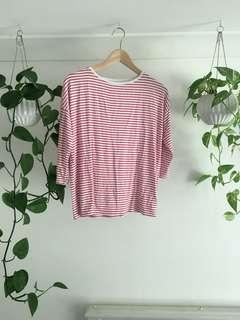 Red & White Striped Top