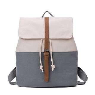 • Preorder • Grey Canvas Backpack