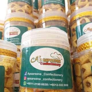 Kuih tat,cookies,semperit by Apsareena Confectionery