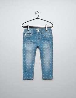BNWT Zara Baby Girl Polka Dots Jeans 18-24M