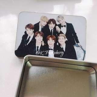 BTS Empty Storage Tin Box