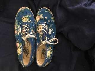 Blue Floral Vans