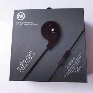 NEW: Earphone WK Design WI200 Black