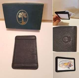 NEW $30 LEATHER MADE IN USA CARD HOLDER POUCH