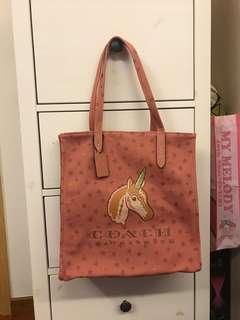 Coach canvas tote bag