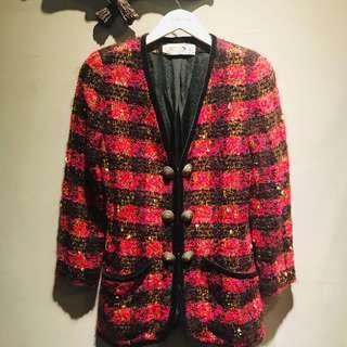🚚 Leone義大利製造V領羊毛外套
