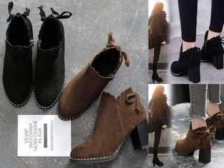 👢韓版短靴  (黑 / 咖)