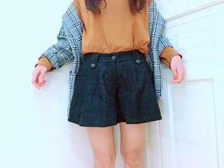 超顯瘦😍暖絨寬鬆短褲 有口袋唷
