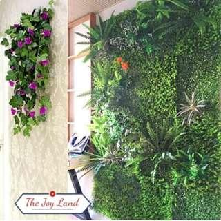 Artificial Plant Wall Decoration Reno Commercial Display Booth backdrop