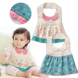 Baby Dress Bibs Set