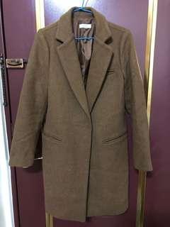 70%羊毛呢暗扣外套(最後降價)