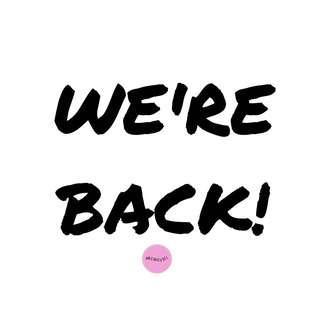 We're back! 😍❤️