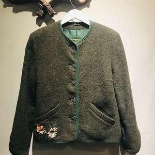 🚚 Waldorf墨綠色羊毛外套