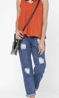 FV Basics Boyfriend Jeans 2.0 in Dark Blue size 26