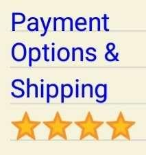 Payment Options and Shipping