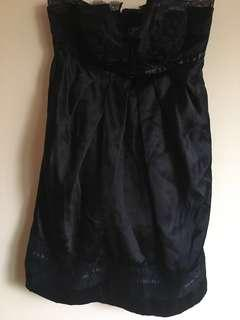 Silk LBD with lace detail