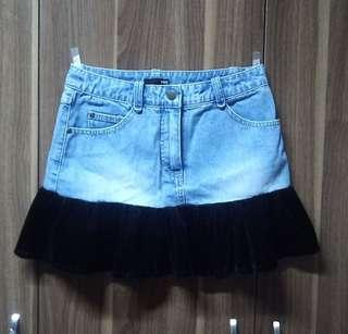 Denim Ruffled Skirt H&M