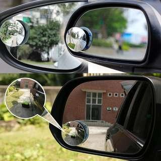 2 Pcs Car Styling 360 Degree Framless Blind Spot Mirror Wide Angle Round HD Glass Convex Rear View Mirrors CSL2018