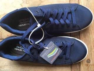 Skechers Air-Cooled Memory Foam Sneakers (Dark Blue)