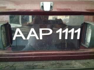 Plate AAP 1111