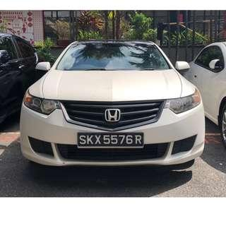 HONDA ACCORD 2.4 (EURO S VERSION) - SOLID AND ENGAGING DRIVE, SUPER HANDSOME, VERY SMOOTH ENGINE, VERY RARE ON THE ROAD! STAND OUT FROM THE REST! GRAB/RYDEX/GOJEK READY!