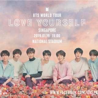 BTS LOVE YOURSELF SG TICKETS