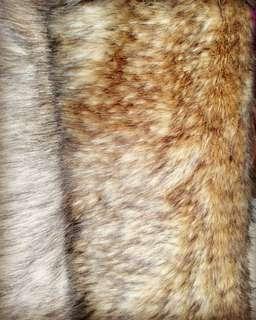 Karpet bulu serigala coklat mix