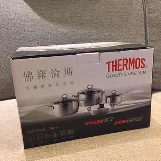 Thermos KCC-W24L 不銹鋼 雙耳煲