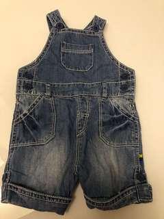 Mothercare jeans overall for 0-3mo