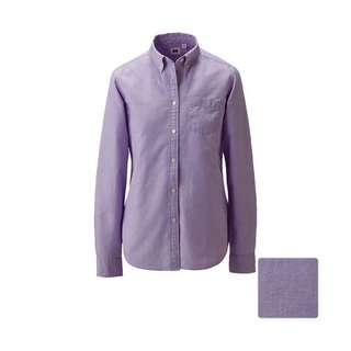 Uniqlo Women Purple Oxford Shirt