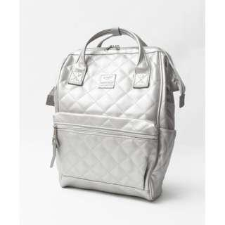 【New Arrival】 Anello Synthetic Leather Quilting Mouthpiece Backpack (Silver) - AH-B3001 | 100% Authentic #anello #leather #backpack #authentic